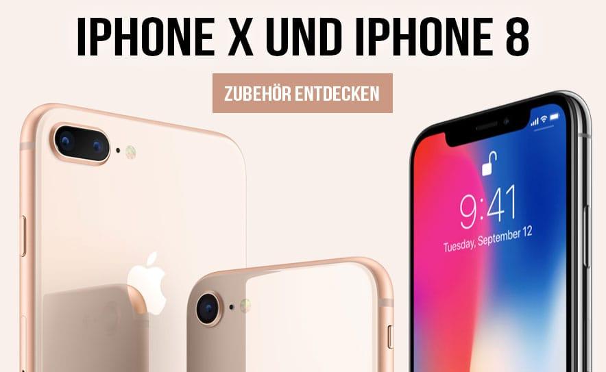 Die neuen iPhone X und iPhone 8 Hüllen und Taschen