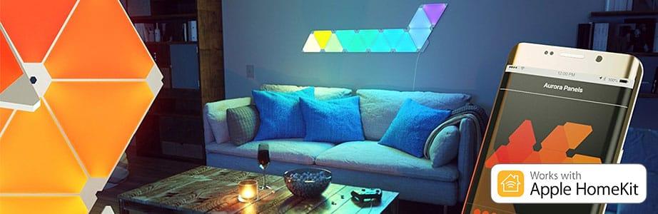 Starter Light Panels 9x Nanoleaf Kit Aurora Led yv08wmnNO