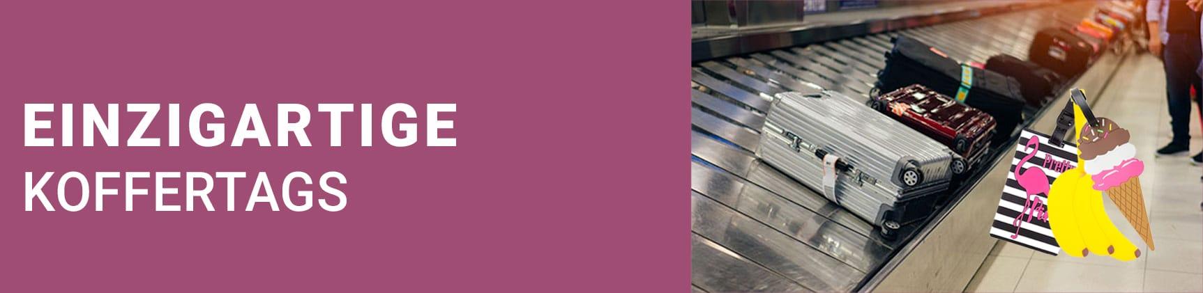 Finde mit den Einzigartige Koffertags Deinen Koffer schneller!