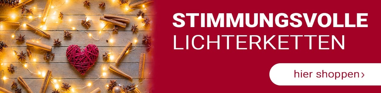 Stimmungsvolle Lichterketten hier online bestellen
