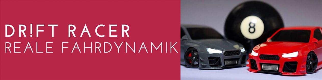 Modell Rennwagen mit realer Fahrdynamik