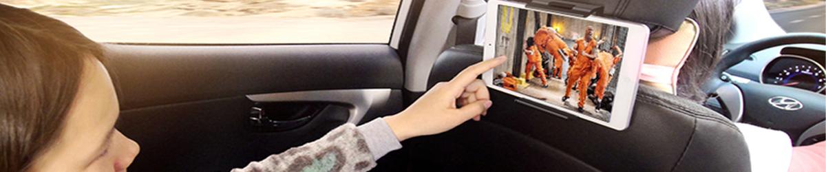 Entspannte Urlaubsreisen mit unseren Rücksitzhalterungen für Tablet & Smartphone