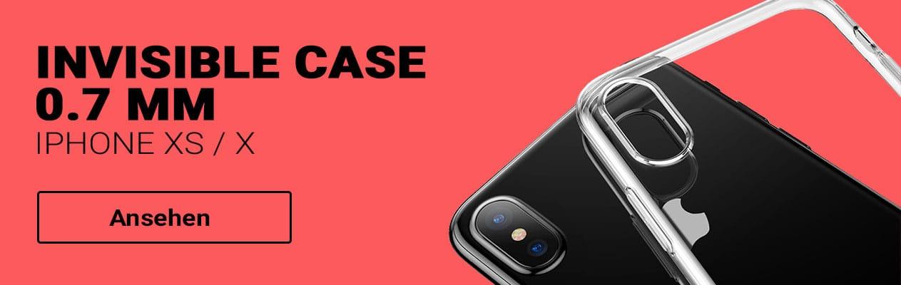 iPhone XS / X Baseus Invisible Case Schutzhülle bestellen