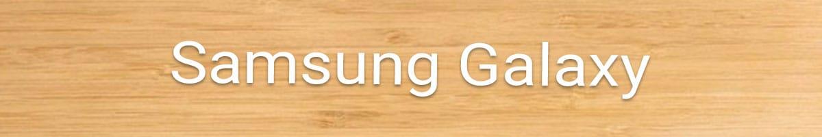 Samsung Galaxy Holzhülle bestellen