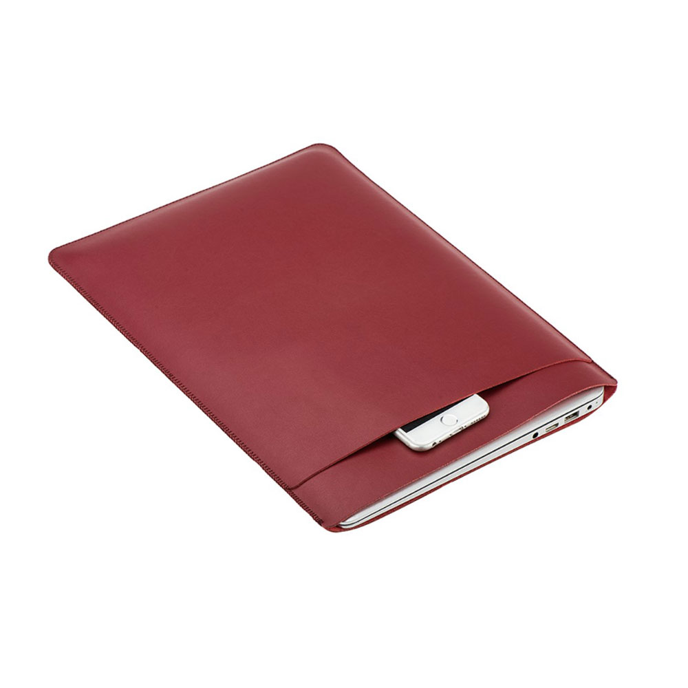 11 Zoll Notebook Leder Tasche Sleeve MacBook Air - Rot