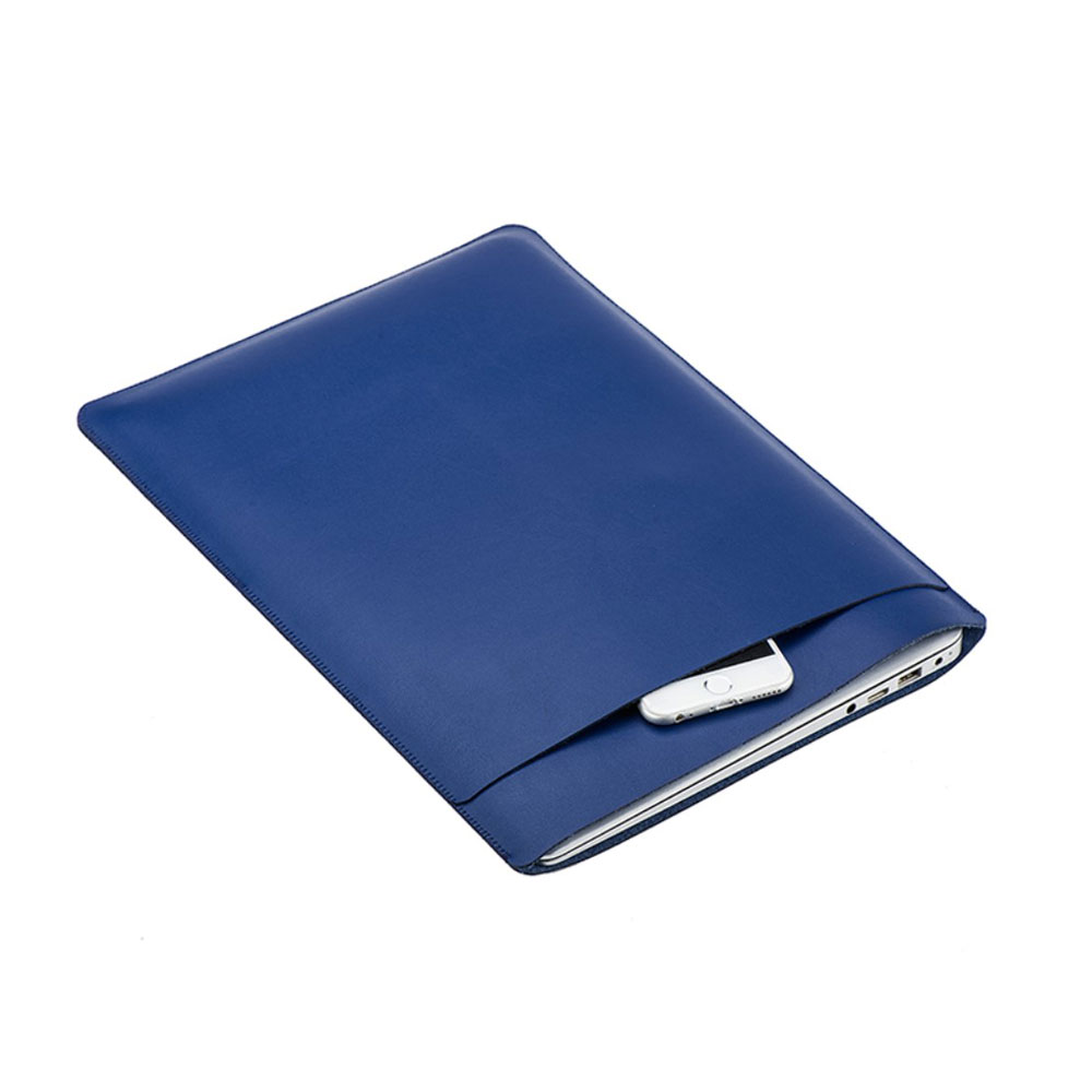 12 Zoll Notebook Leder Tasche Sleeve MacBook Retina - Dunkelblau
