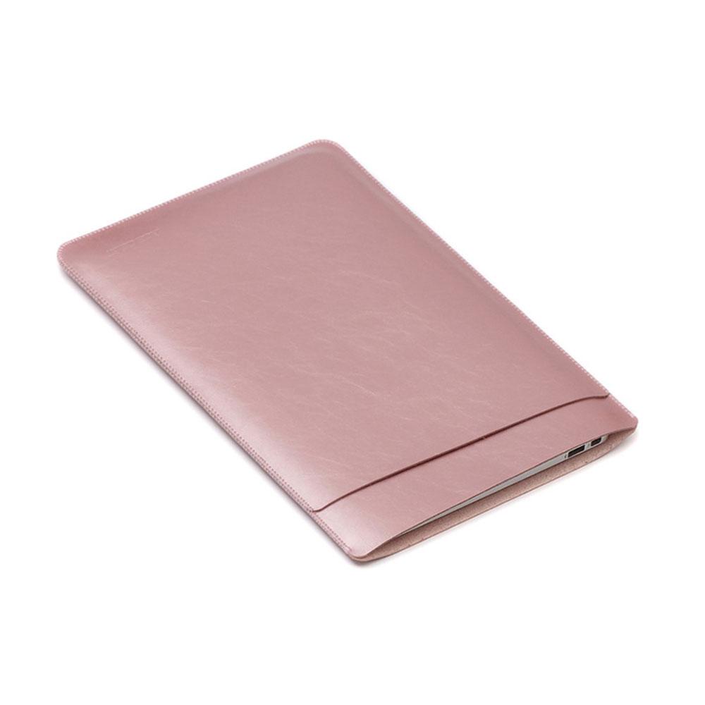 Image of 12 Zoll Notebook Leder Tasche Sleeve MacBook Retina - Roségold