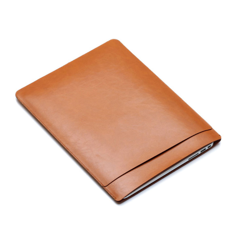 Image of 13.3 Zoll Notebook Leder Tasche Sleeve MacBook Pro (ab 2016) / MacBook Pro Retina / MacBook Air - Braun