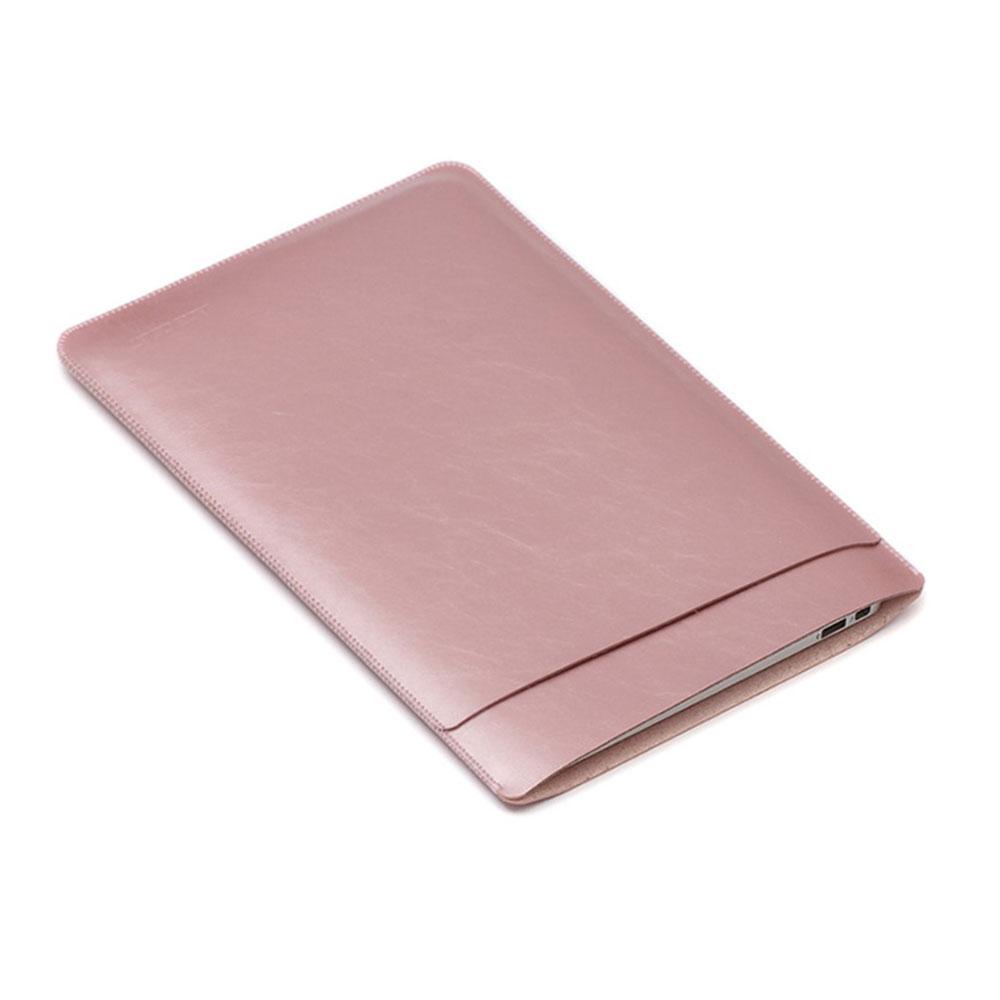 Image of 13.3 Zoll Notebook Leder Tasche Sleeve MacBook Pro (ab 2016) / MacBook Pro Retina / MacBook Air - Roségold