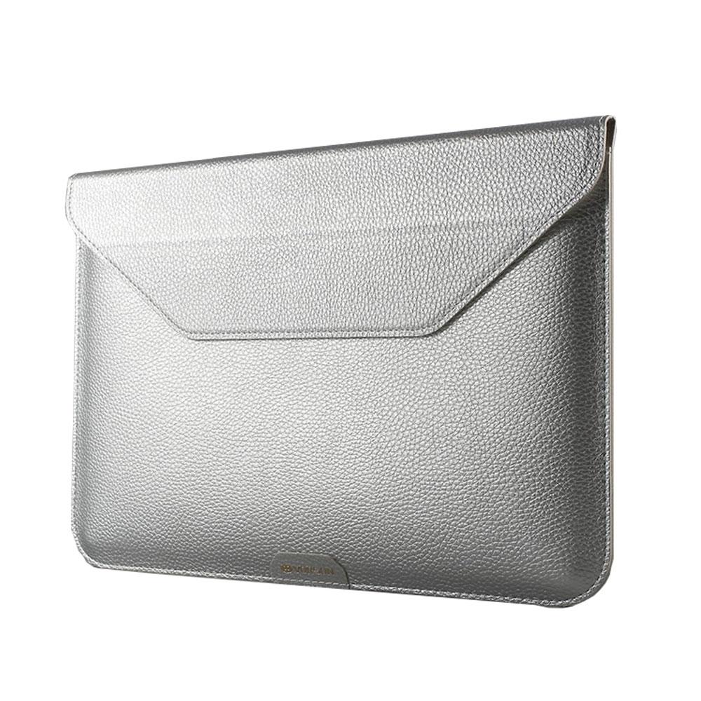Image of 13.3 Zoll Notebook Leder Tasche Sleeve MacBook Pro (ab 2016) / MacBook Pro Retina / MacBook Air - Silber