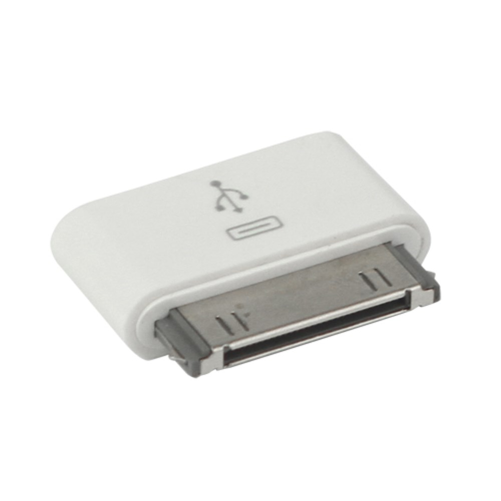 Image of 30pin Apple Dock Adapter auf Micro USB für iPhone 4 / 4S / iPad 2 / 3 / iPod Touch 4 - Weiss
