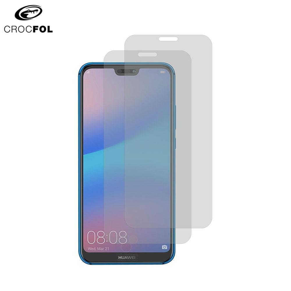Image of (2er Set) Crocfol DIEFOLIE - Huawei P20 Lite Case Friendly Flüssig Glas Display Schutzfolie (DF-4731) - Transparent
