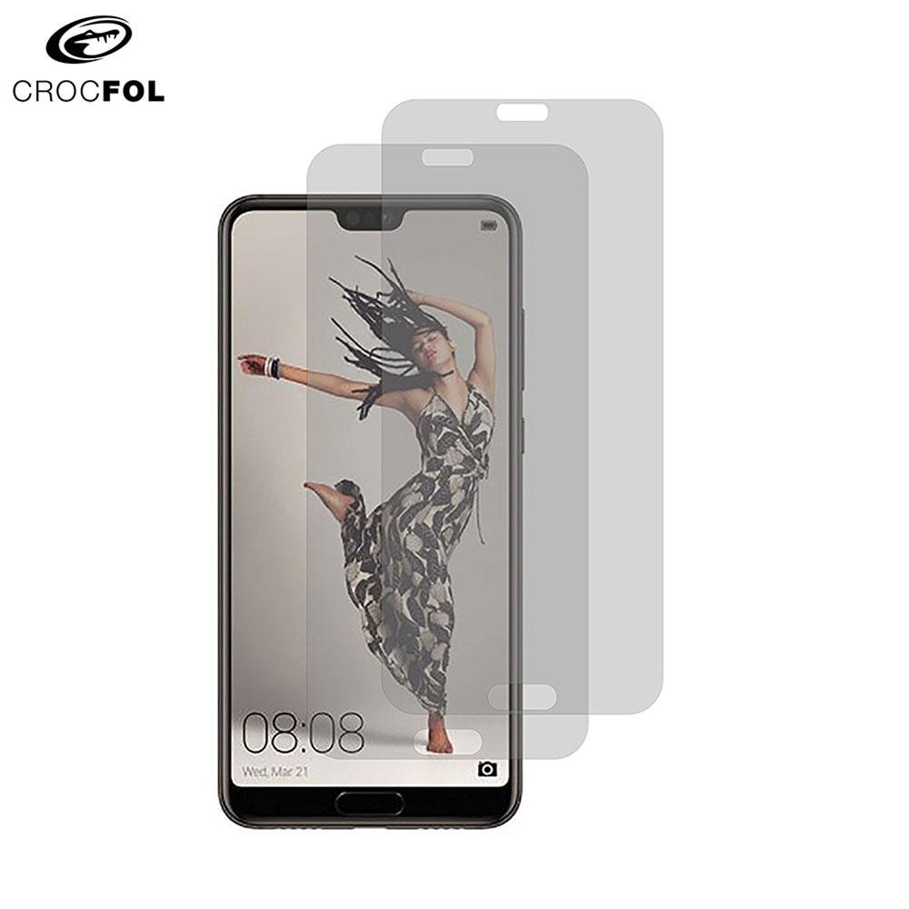 Image of (2er Set) Crocfol DIEFOLIE - Huawei P20 Pro Case Friendly Flüssig Glas Display Schutzfolie (DF-4734) - Transparent