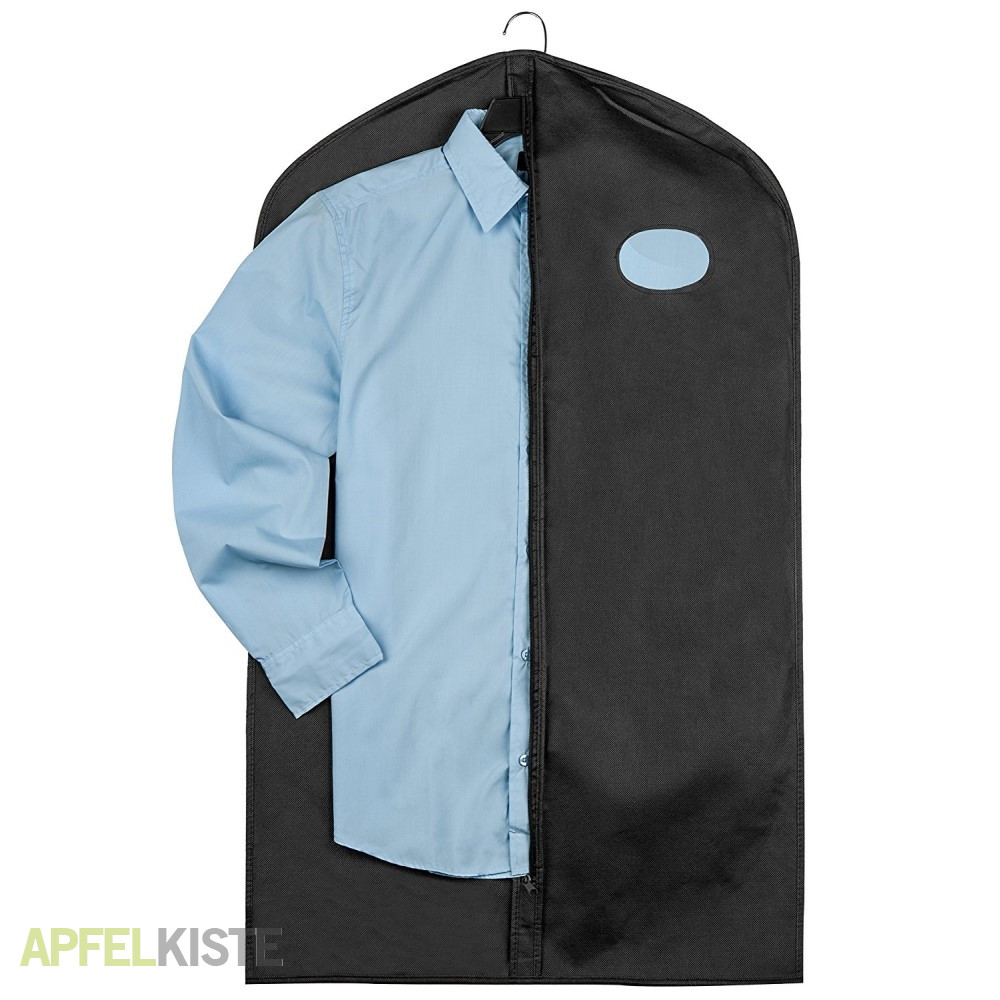 4 tlg kleidersack bekleidungsbeutel hemden schwarz. Black Bedroom Furniture Sets. Home Design Ideas