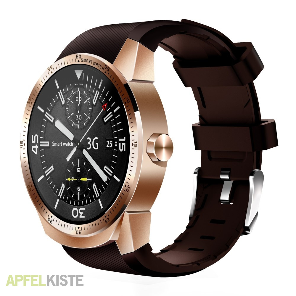 android smartwatch uhr bluetooth wifi gps 3g gold. Black Bedroom Furniture Sets. Home Design Ideas