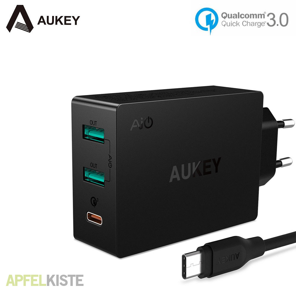 aukey 42w usb usb c ladeger t quick charge 3 0. Black Bedroom Furniture Sets. Home Design Ideas