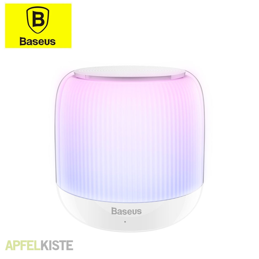baseus led lampe bluetooth lautsprecher weiss. Black Bedroom Furniture Sets. Home Design Ideas