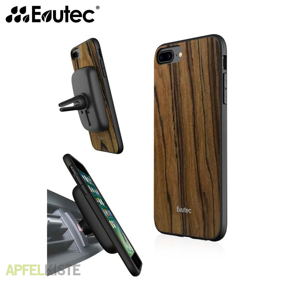 evutec iphone 8 plus aer wood rosenholz kfz halter. Black Bedroom Furniture Sets. Home Design Ideas