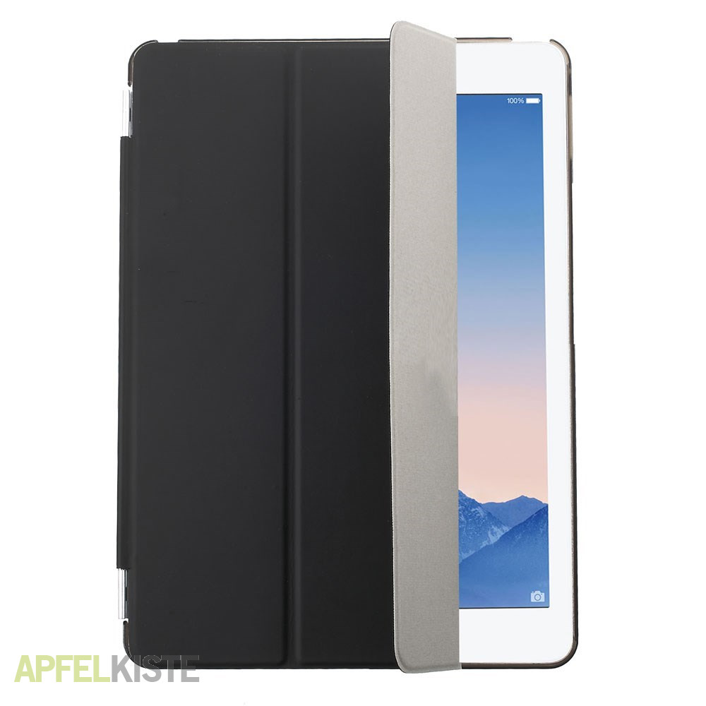 ipad air 2 front back smart cover h lle schwarz. Black Bedroom Furniture Sets. Home Design Ideas