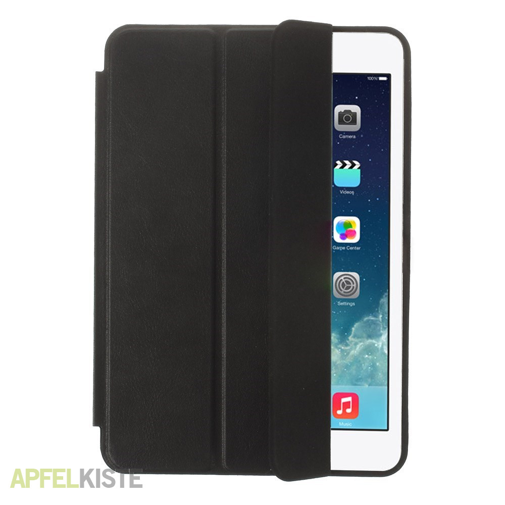 ipad mini 2 3 leder smart case h lle schwarz. Black Bedroom Furniture Sets. Home Design Ideas