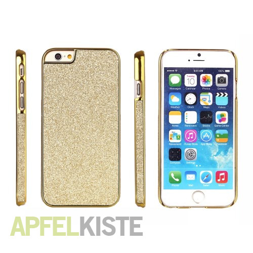 iphone 6 plus 6s plus hardcase h lle glitzer look gold. Black Bedroom Furniture Sets. Home Design Ideas