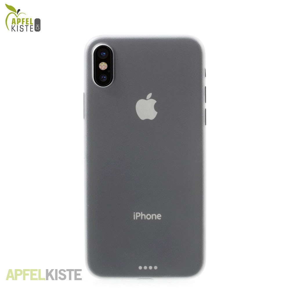 apfelkiste megathin iphone xs x h lle clear. Black Bedroom Furniture Sets. Home Design Ideas