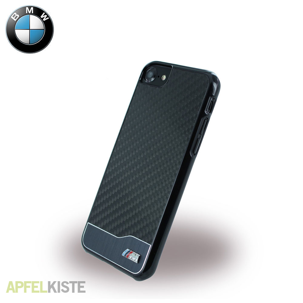 bmw iphone 8 iphone 7 carbon case h lle m sport schwarz. Black Bedroom Furniture Sets. Home Design Ideas