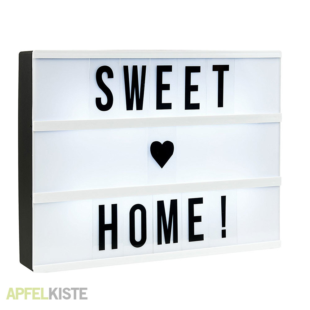 light box a4 leuchtkasten mit 96 buchstaben. Black Bedroom Furniture Sets. Home Design Ideas
