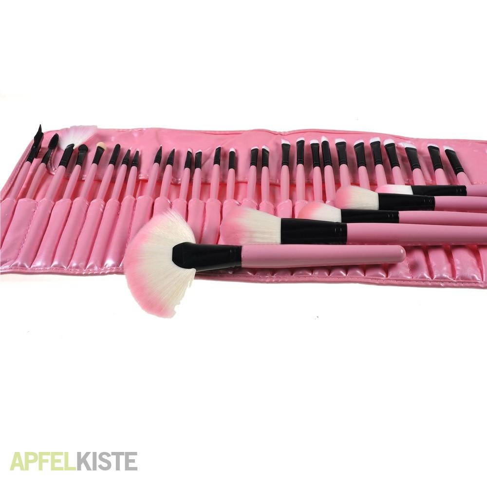 beauty make up pinsel set tasche 32 teile rosa. Black Bedroom Furniture Sets. Home Design Ideas