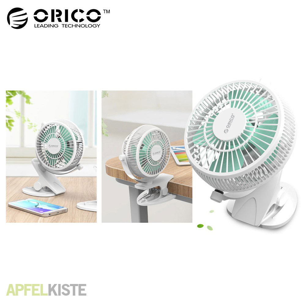 orico usb tisch ventilator mit clip weiss. Black Bedroom Furniture Sets. Home Design Ideas