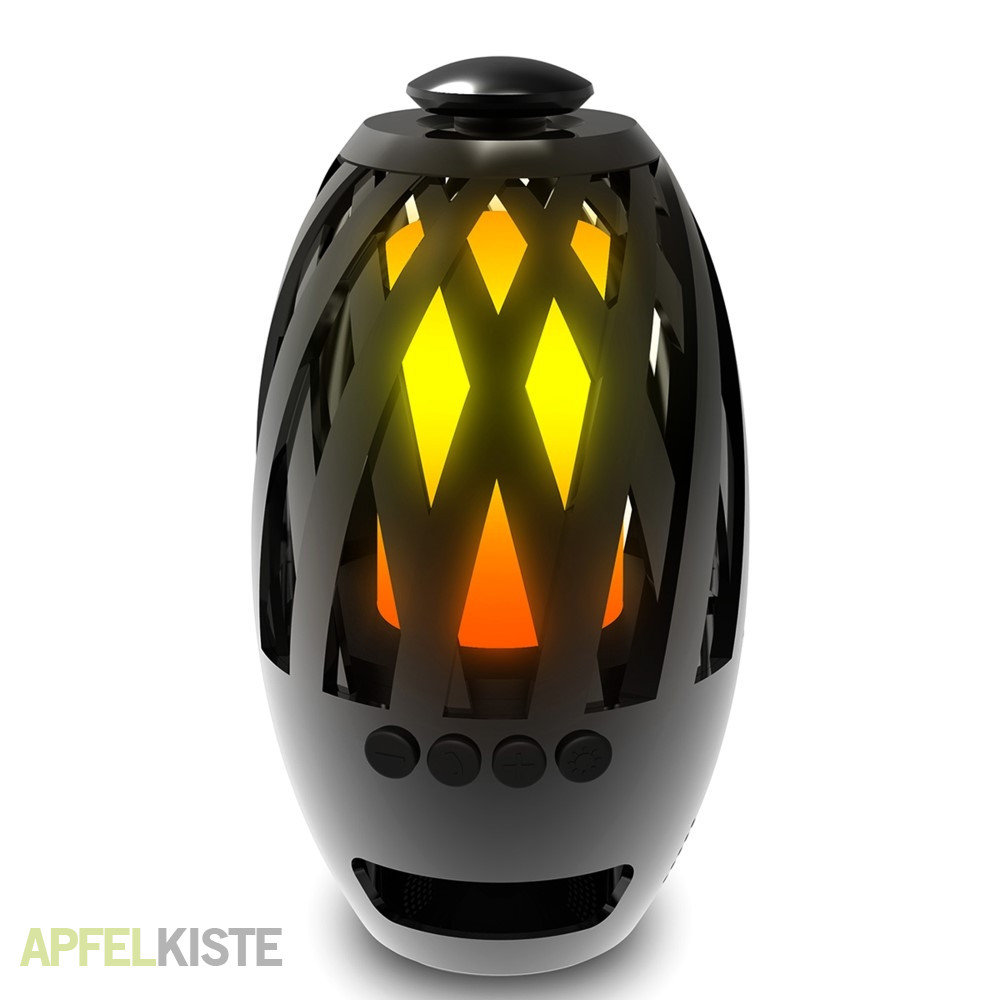 bluetooth lautsprecher led feuer flammenlampe. Black Bedroom Furniture Sets. Home Design Ideas