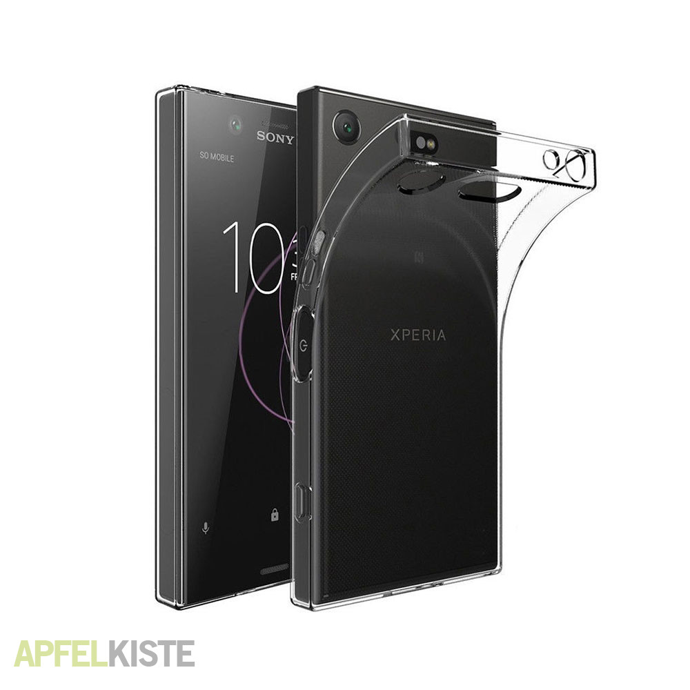 sony xperia xz1 compact gummi case h lle clear. Black Bedroom Furniture Sets. Home Design Ideas