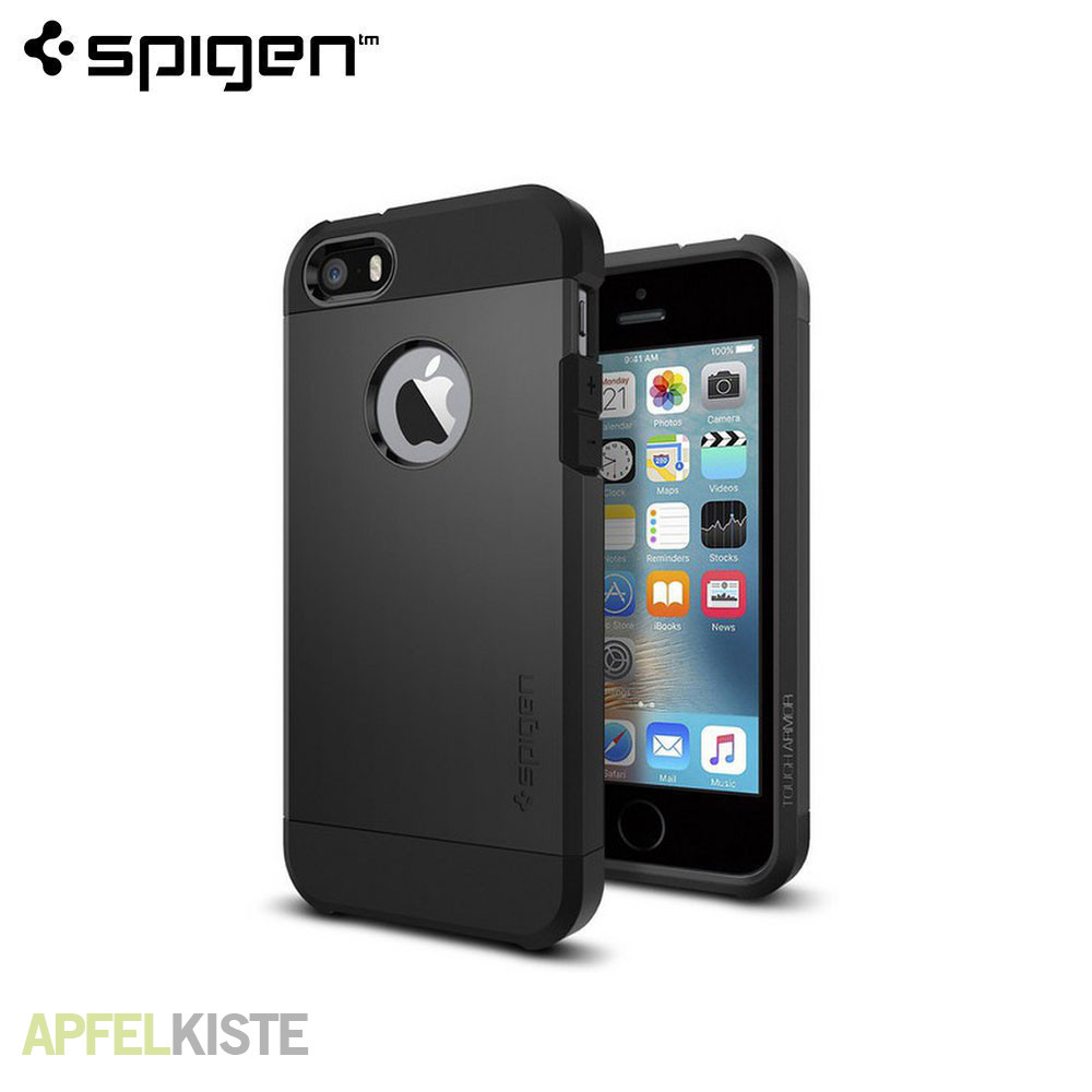 iphone se 5s tough armor case schwarz. Black Bedroom Furniture Sets. Home Design Ideas