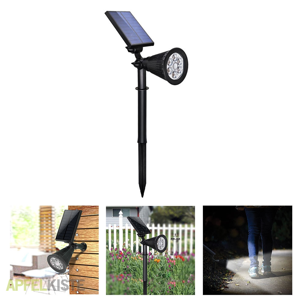 led solar outdoor gartenleuchte motion sensor. Black Bedroom Furniture Sets. Home Design Ideas