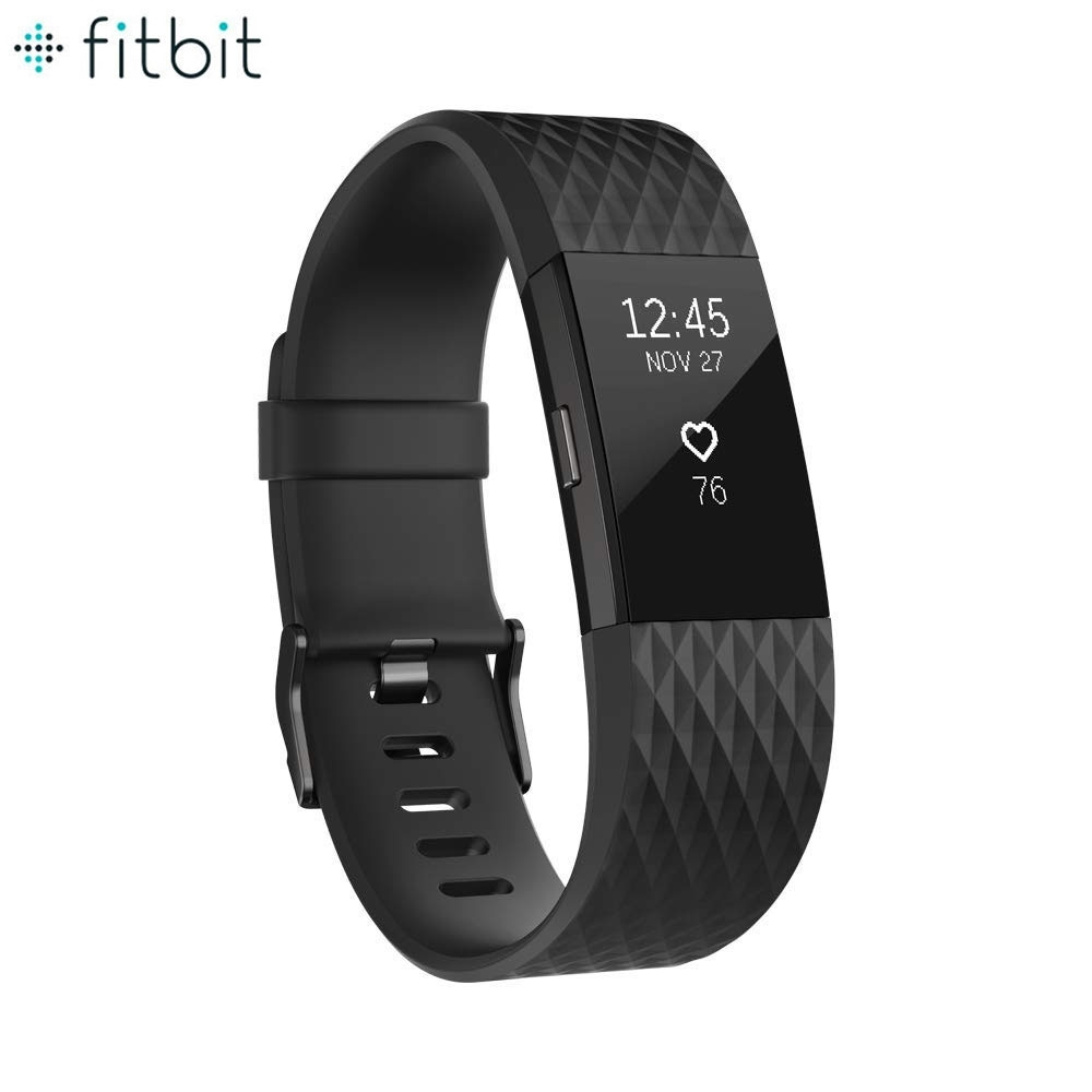 Fitbit Charge 2 Fitness Tracker Smart Watch Grösse L