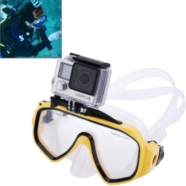 Tauchmaske Taucherbrille mit Kamerahalterung für GoPro Hero 6 Black / 5 / 4 / 3+ / 3 / 2 / 1