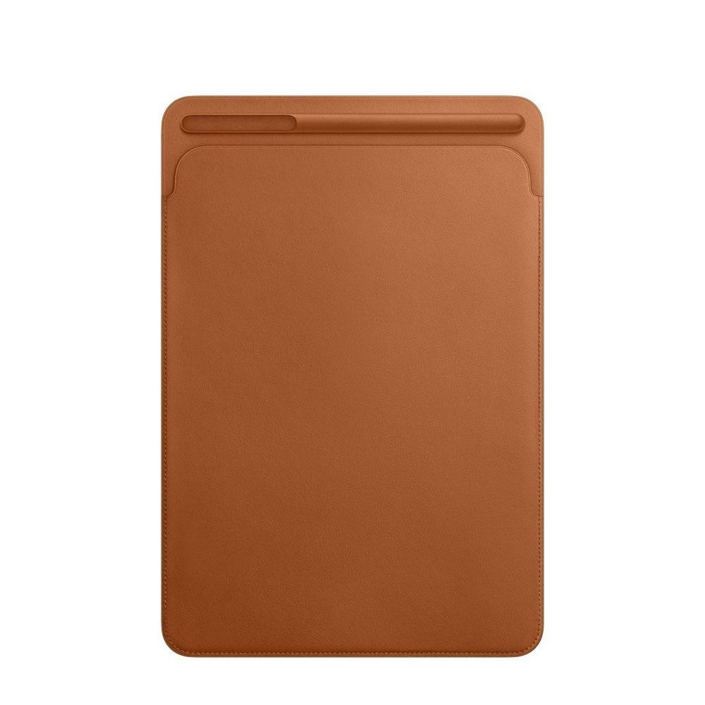 Image of iPad Pro 11 / 10.5 / iPad 9.7 (2018/2017) / iPad Pro 9.7 / iPad Air 2 / 1 Leder Tasche mit Apple Pencil Halter - Braun