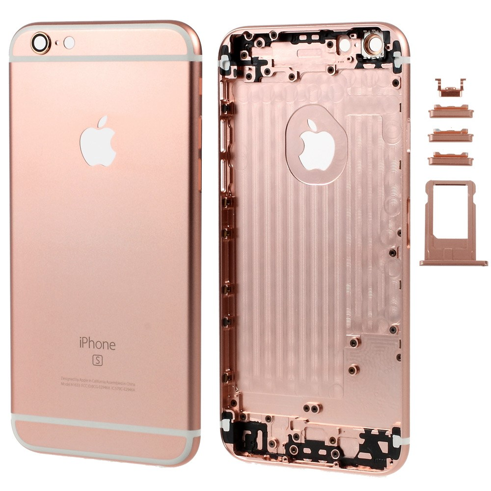 iPhone 6 Plus Alu Backcover mit 6S Logo Roségold