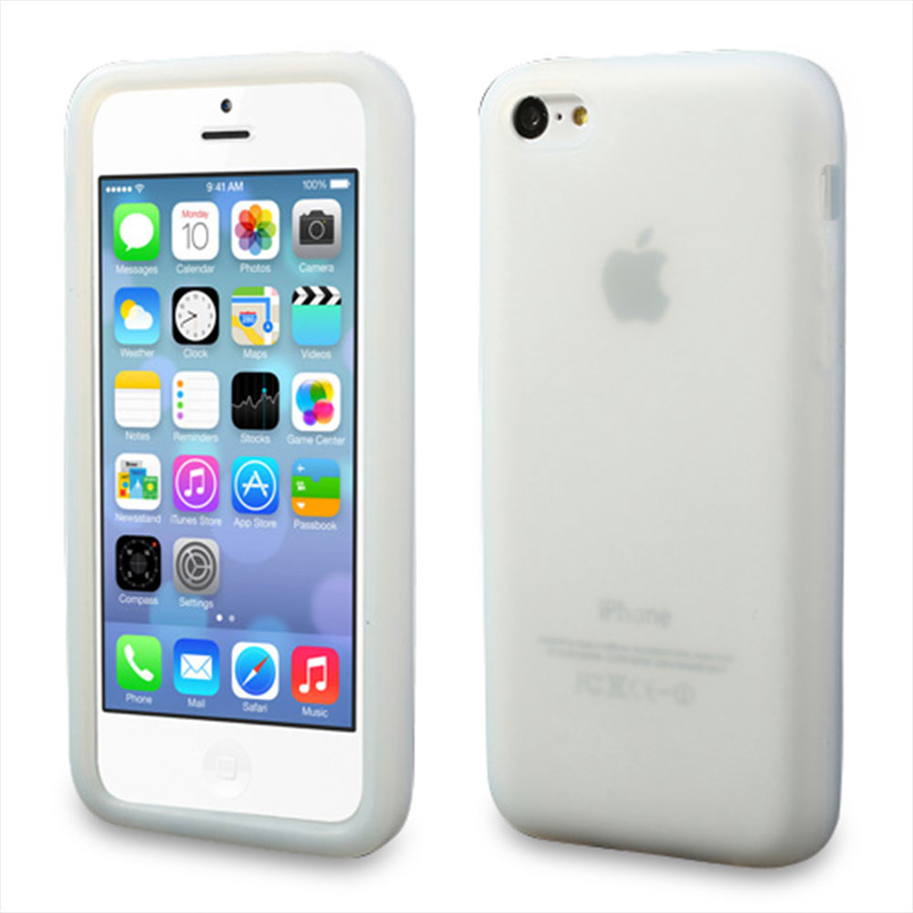 iPhone 5C Silikon Case Hülle - Weiss