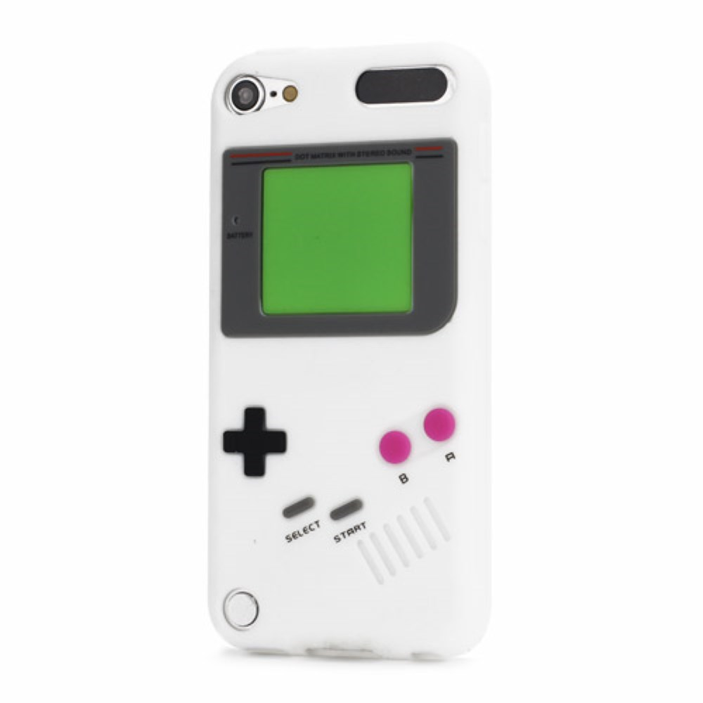 iPod Touch 5 Silikon Case Gameboy - Weiss