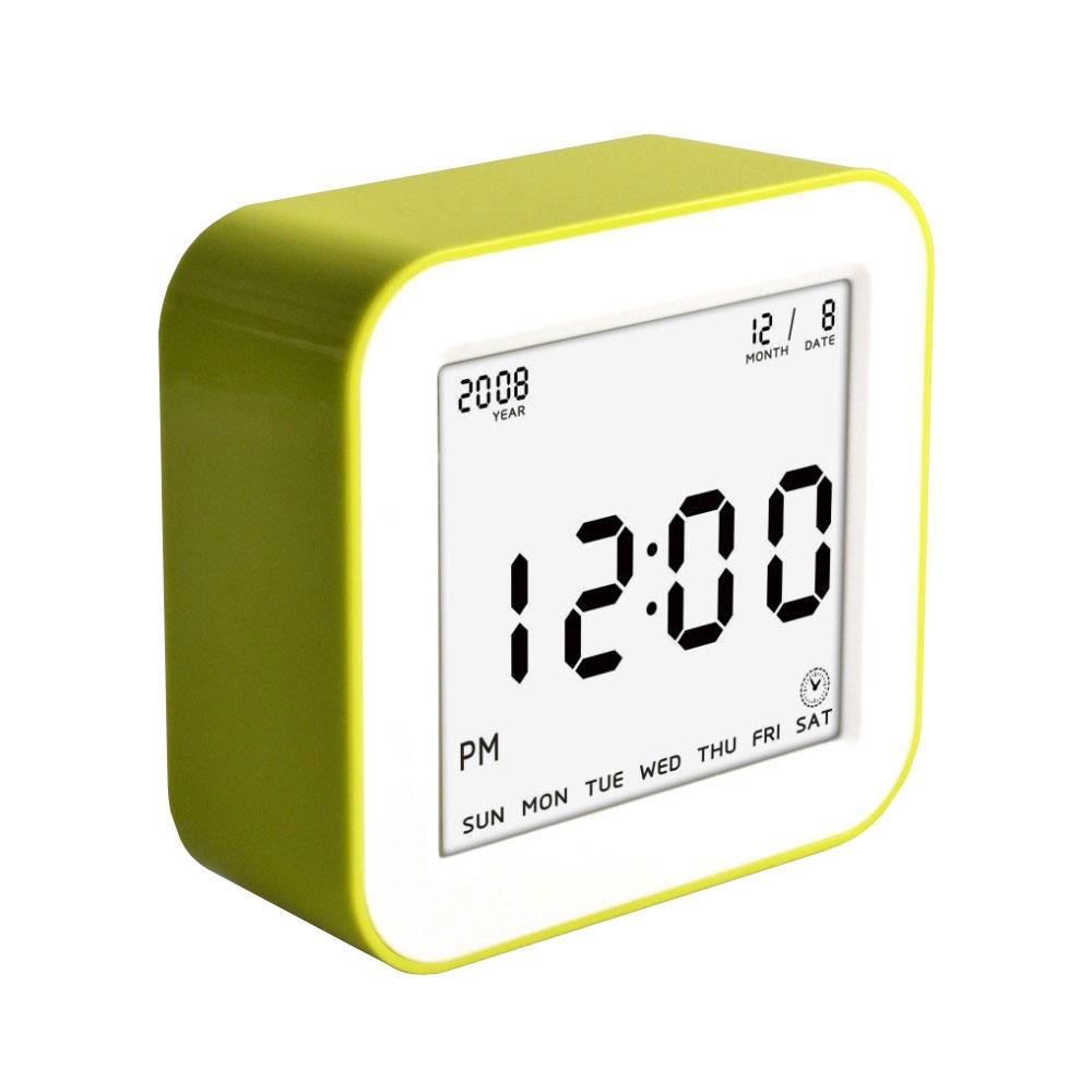 LED Wecker Digitaluhr mit Nachtlicht (Anzeige: Uhrzeit / Datum / Temperatur) - Grün