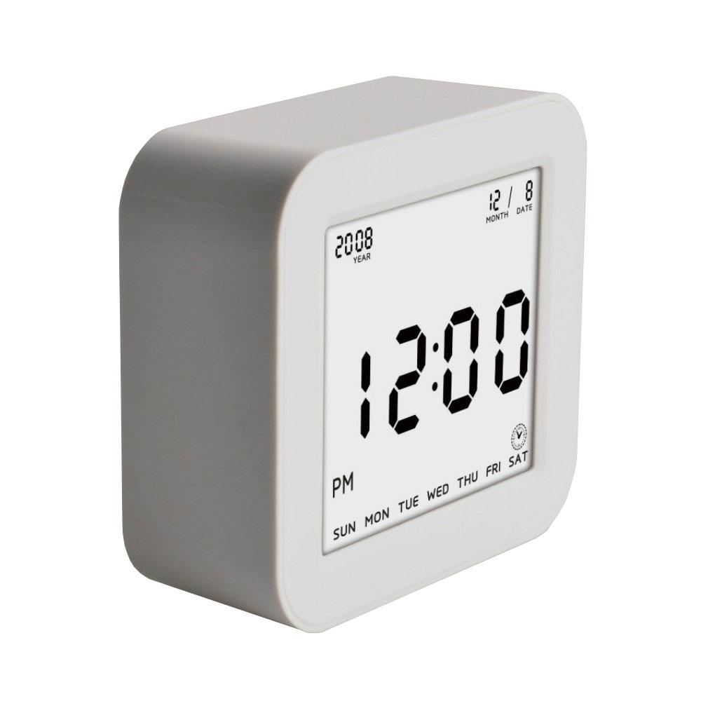 LED Wecker Digitaluhr mit Nachtlicht (Anzeige: Uhrzeit / Datum / Temperatur) - Weiss