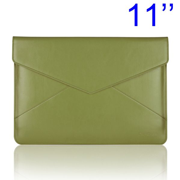 "Cartinoe - MacBook Air 11"" Zoll Leder Tasche im Briefumschlag Design - Grün"