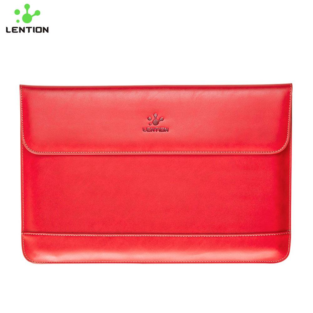 """Leder Notebook Tasche Sleeve für MacBook Pro 15"""" - Rot"""