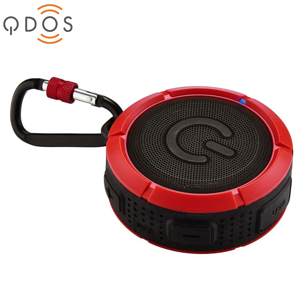 Wasserfester NFC Lautsprecher Rot Schwarz