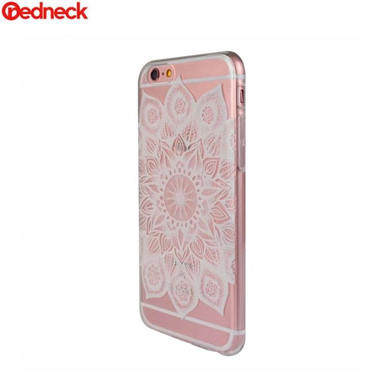 Image of Redneck - iPhone 6 / 6S Hardcase Hülle Fleur Design (RNCS01537) - Transparent / Weiss