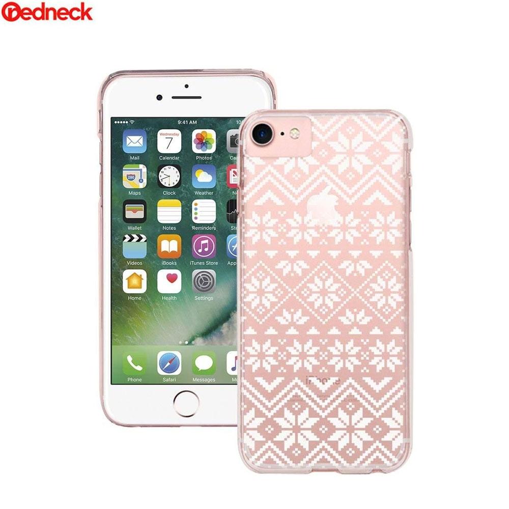 Image of Redneck - iPhone 8 / 7 / 6S / 6 Hardcase Hülle Knit Design (RNCS01773) - Transparent / Weiss