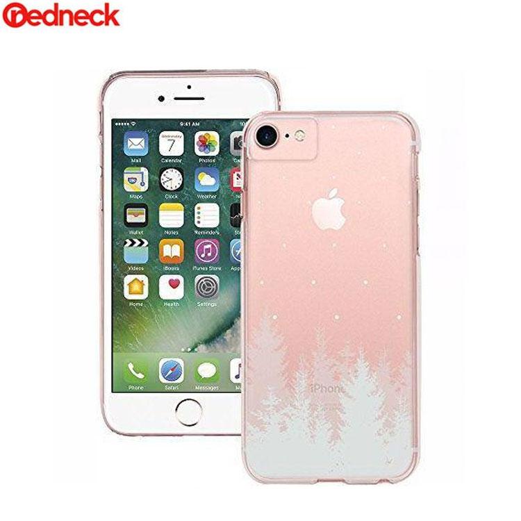 Image of Redneck - iPhone 8 / 7 / 6S / 6 Hardcase Hülle Pine Design (RNCS01775) - Transparent / Weiss