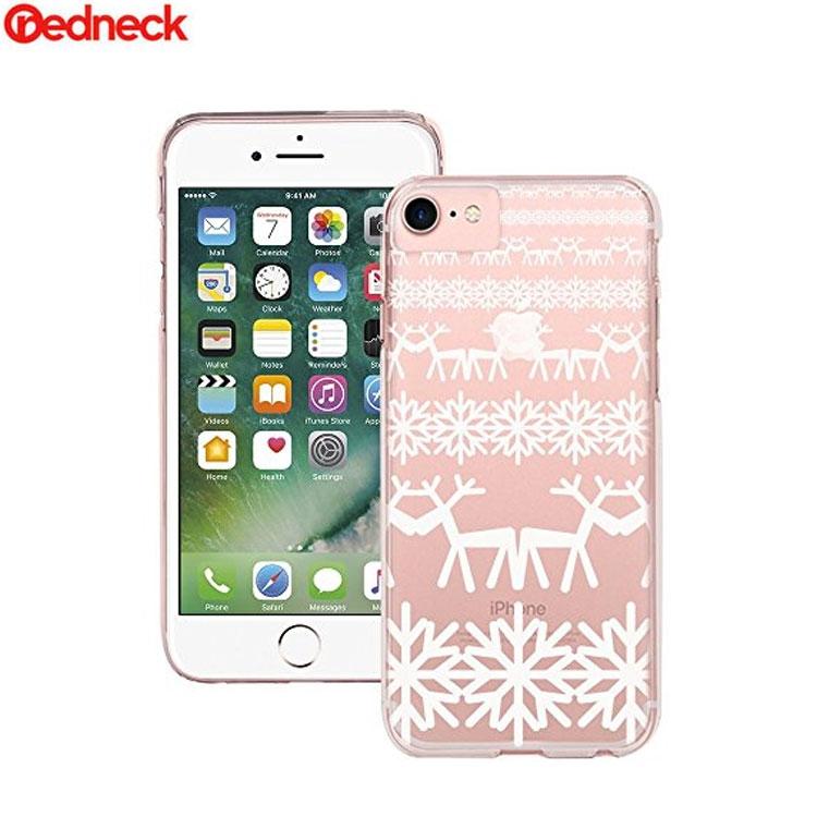 Image of Redneck - iPhone 8 / 7 / 6S / 6 Hardcase Hülle Reindeer Design (RNCS01778) - Transparent / Weiss