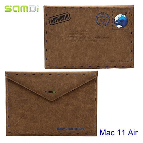 MacBook Air 11 Zoll Retro Leder Tasche Book Case - Braun